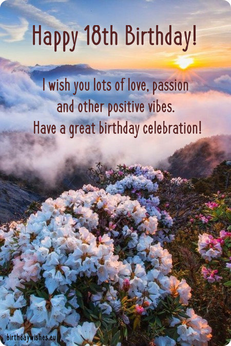 18th birthday wishes for friend