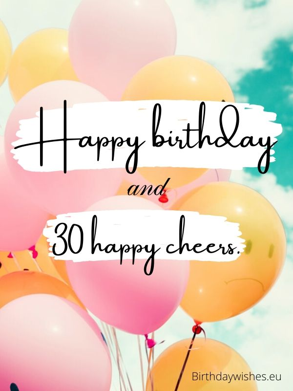 30th birthday greeting for friend