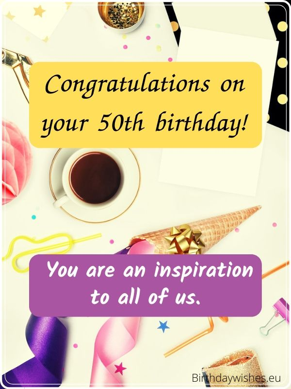 50th birthday card for female