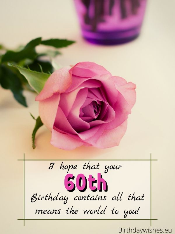 60th birthday card for female friend