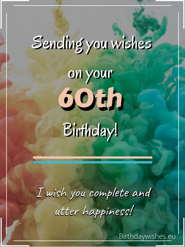 60th birthday wishes for female friend