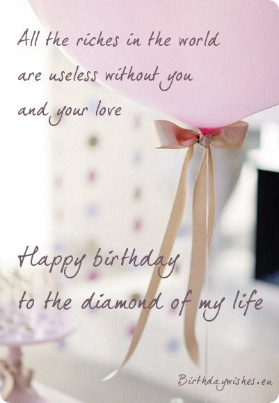 top  romantic happy birthday wishes for wife, Birthday card