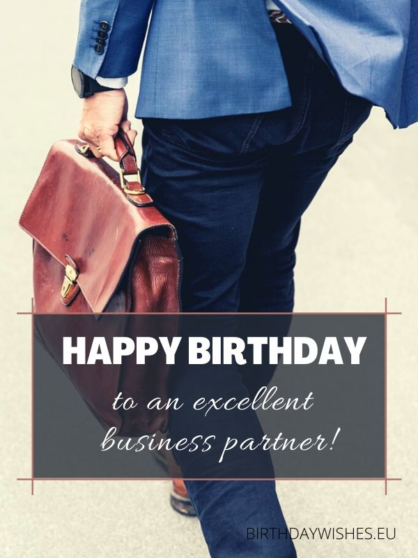 birthday card for business partner