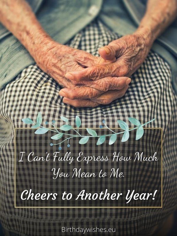 Birthday card for elderly person