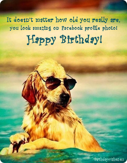 Funny Birthday Wishes For Facebook Friend Card