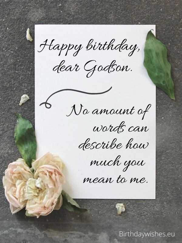 birthday card for Godson