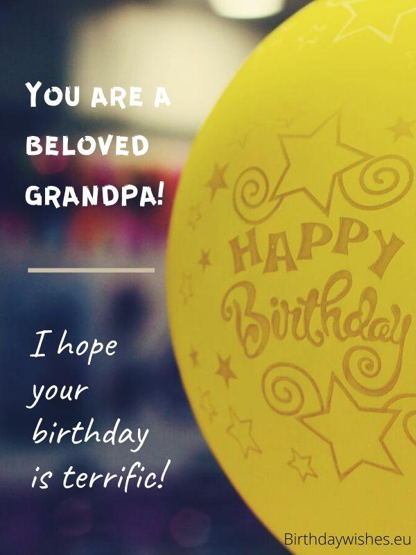 birthday card for grandpa