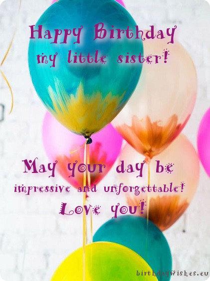 birthday card for little sister