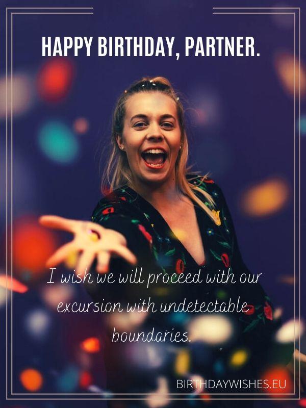 birthday congratulation for business partner
