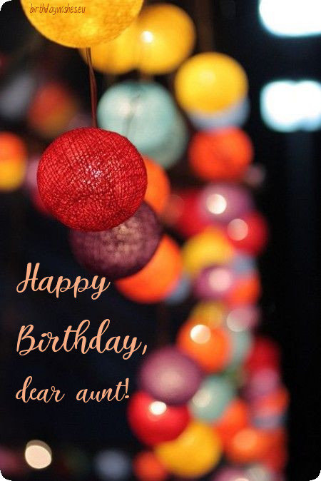 birthday ecard for aunt