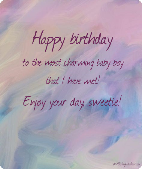 Birthday Ecard For Baby Boy