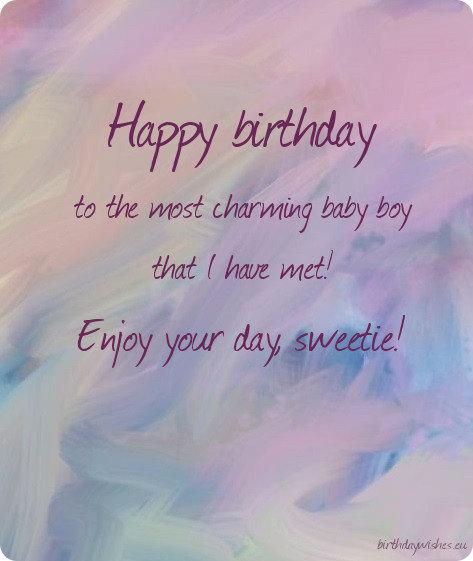birthday ecard for baby boy