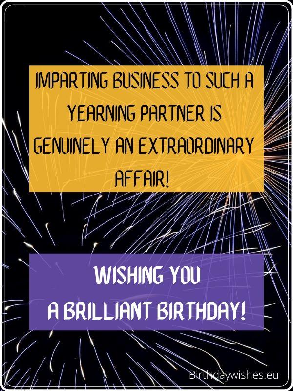 birthday ecard for business partner