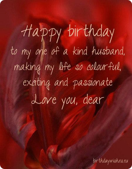 Top 30 Romantic Happy Birthday Wishes For Husband – Birthday Cards for Husband with Love