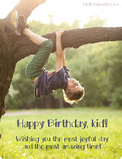 Birthday Ecard For Kid Boy