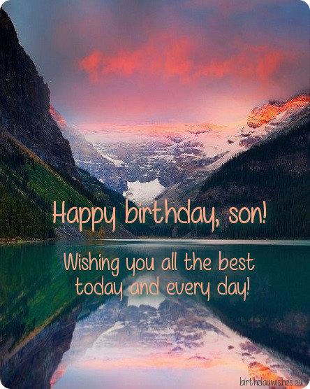 birthday ecard for son