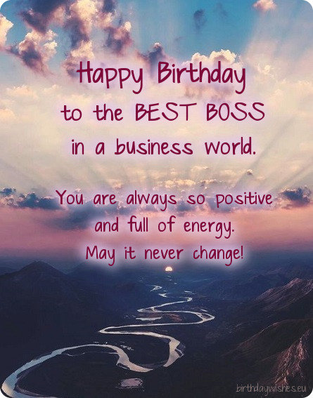 birthday greeting card for female boss