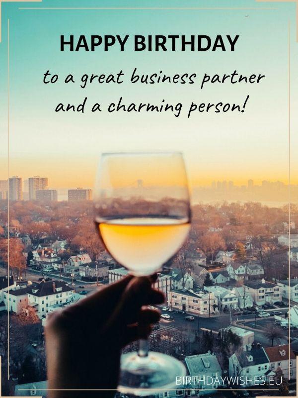 birthday greeting for business partner
