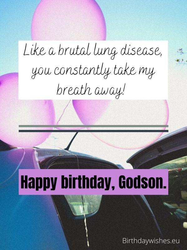 birthday greeting for Godson