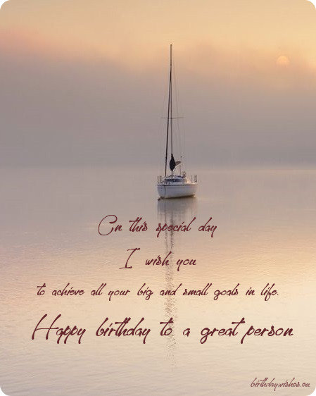 birthday greeting for special person
