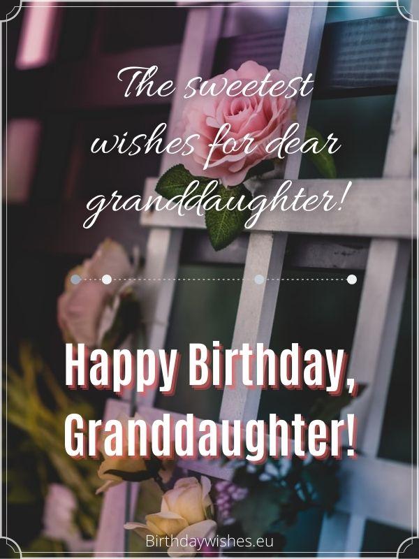 birthday greetings for granddaughter