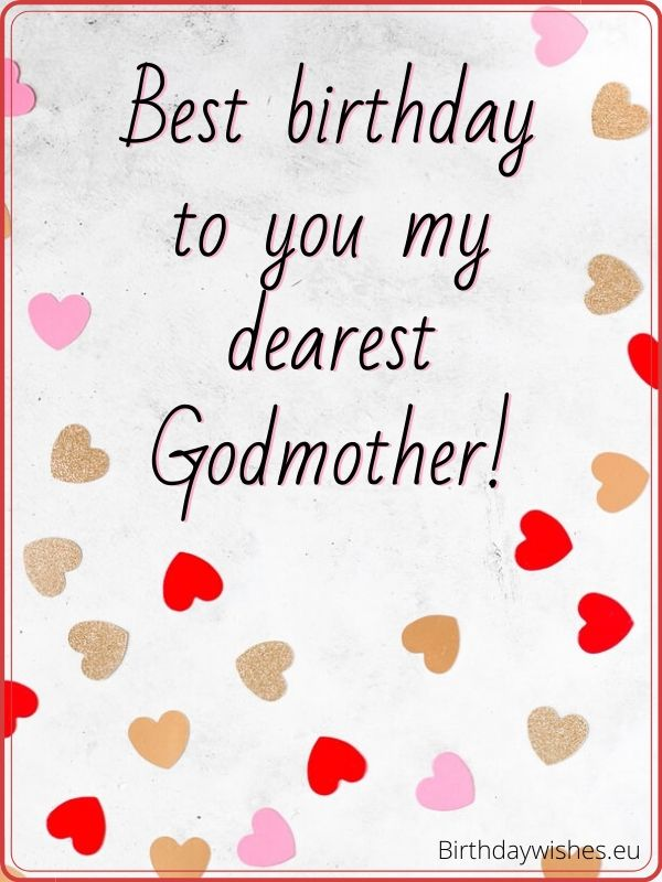 birthday image for Godmother