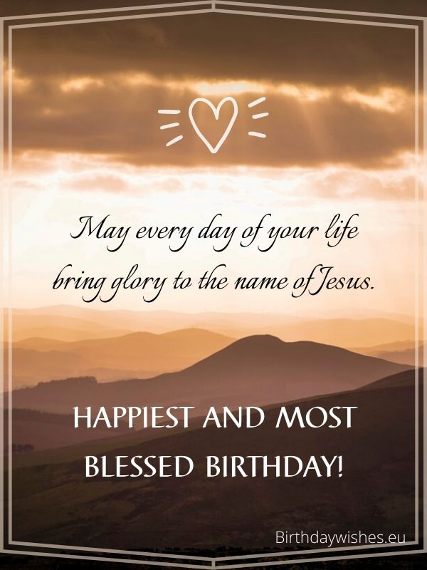 birthday message for christian