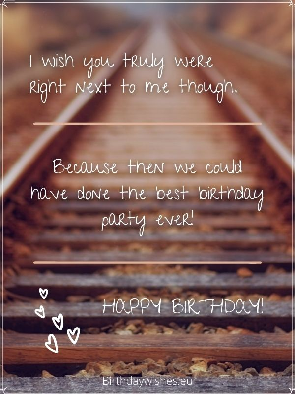 Birthday messages for best friend miles away
