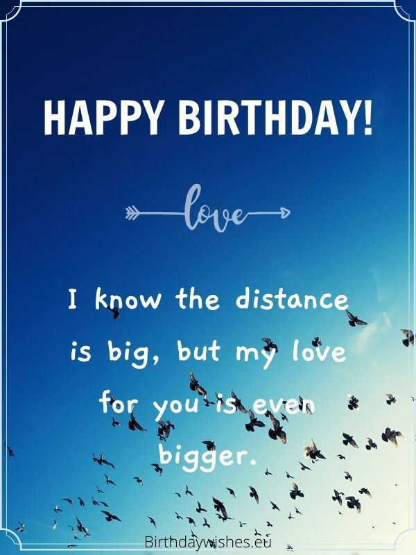 Birthday messages from far away