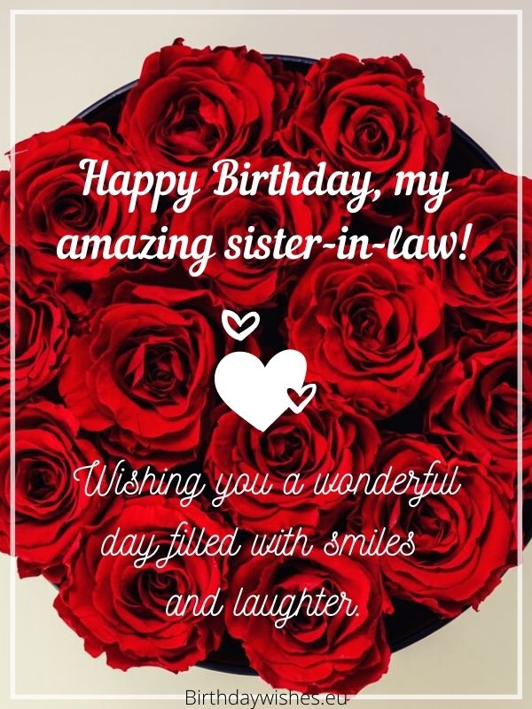 Birthday messages for sister-in-law