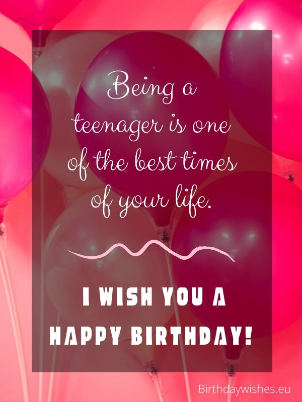 birthday messages for teenagers