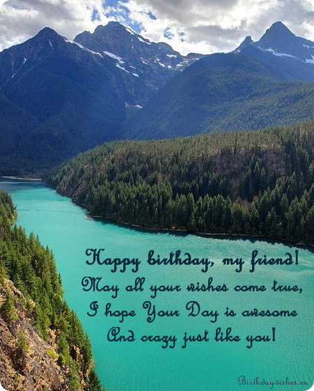 Birthday Poem For Friend