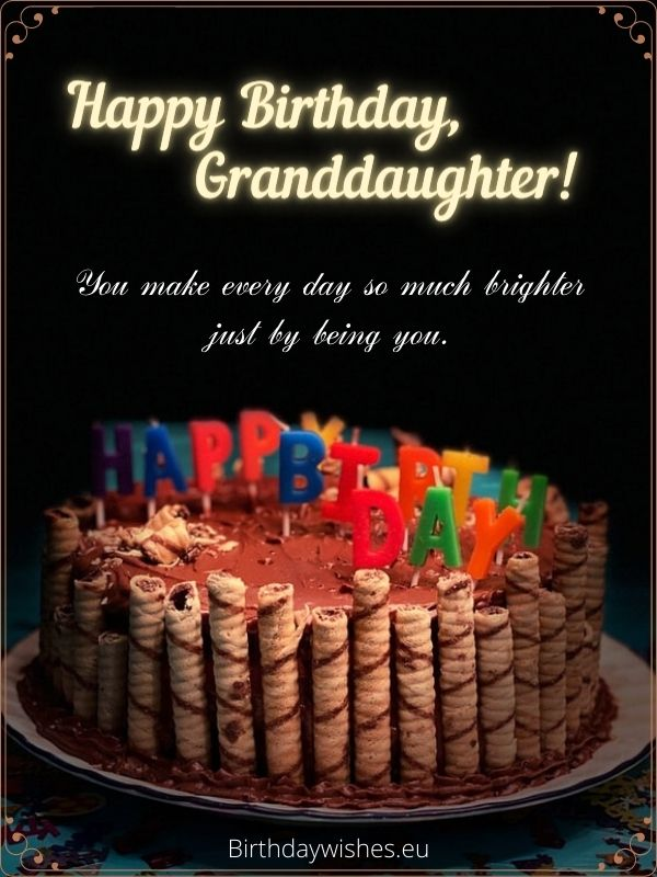 birthday quotes to granddaughter