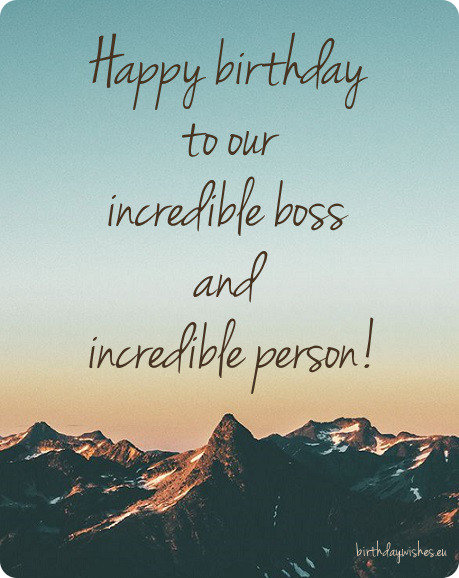 Happy Birthday Boss | Top 50 Birthday Wishes For Boss