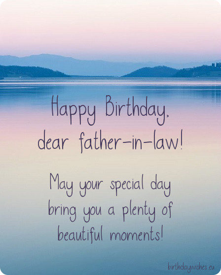 birthday wishes for father-in-law