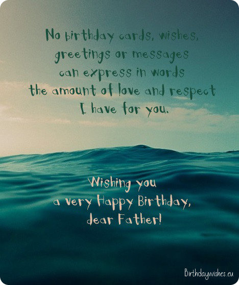 Happy Birthday Dad – Birthday Greeting Dad