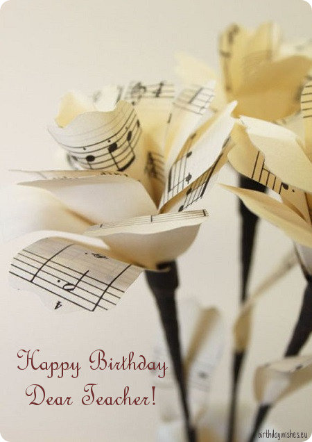 birthday messages for music teacher