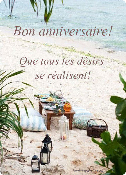bon anniversaire wishes