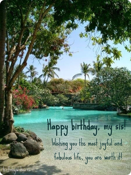 cute birthday message for sister