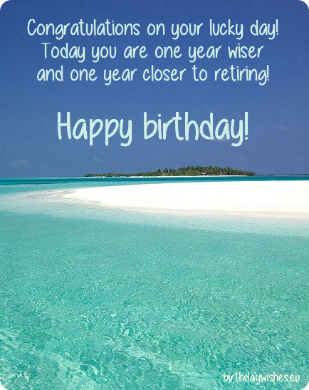 birthday card with beach