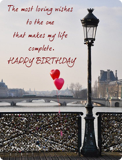 birthday ecard for love