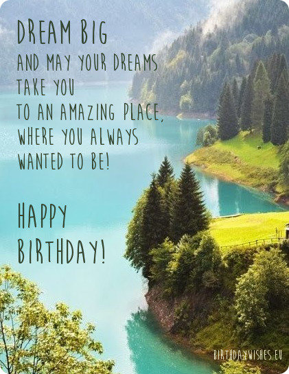 inspirational birthday image