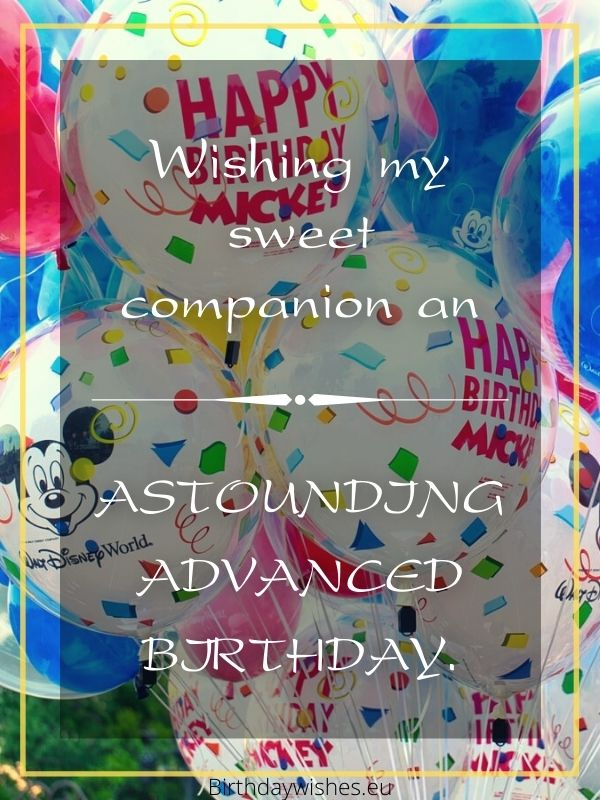 Happy birthday in advance greetings