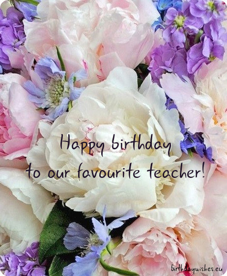 happy birthday teacher ecard