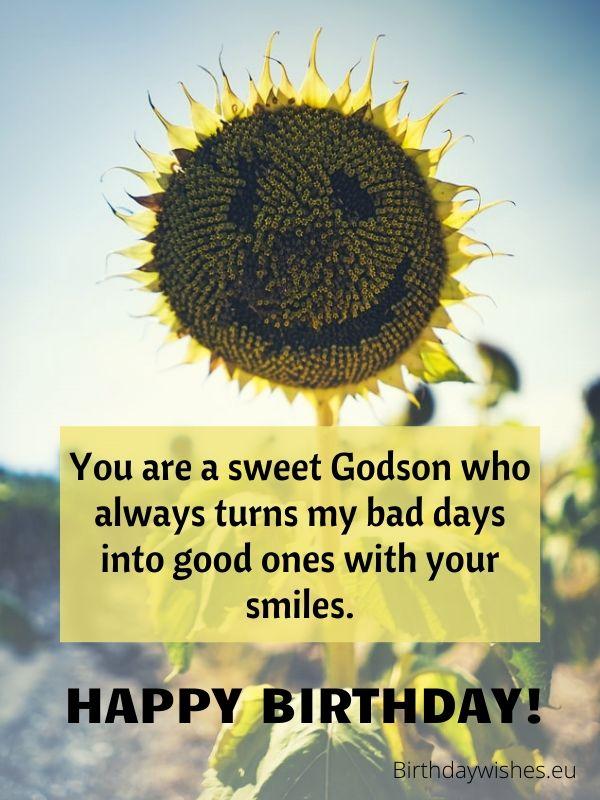 happy birthday to Godson