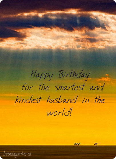Nice Birthday Card For Husband Happy
