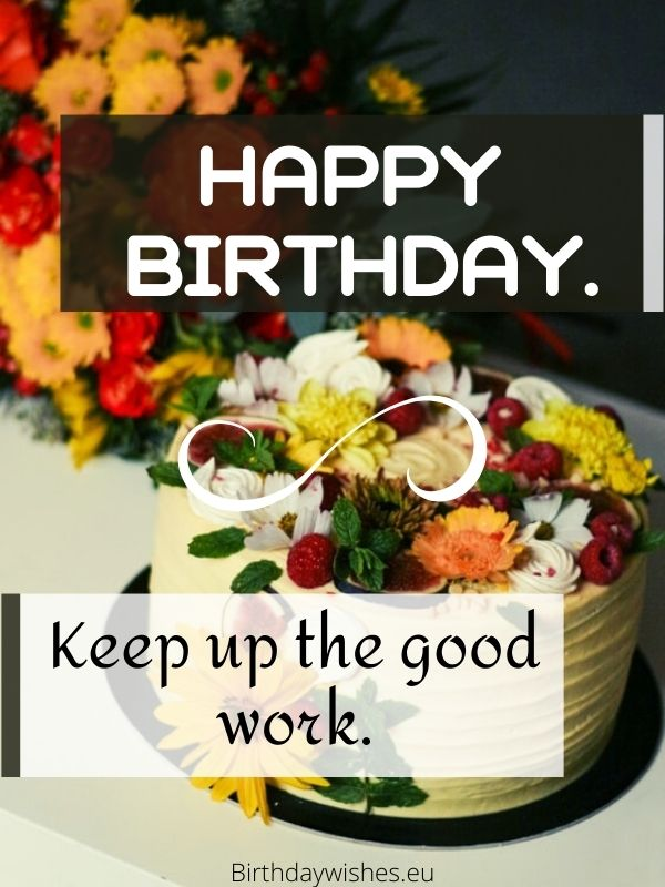 Short birthday wishes for employees