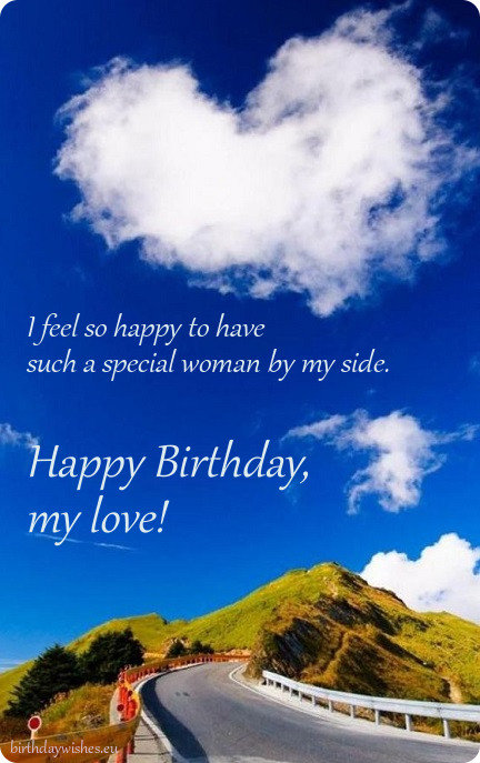 special birthday card for wife
