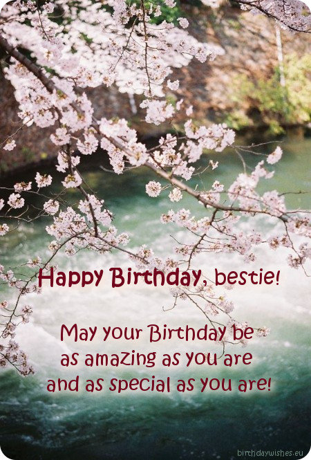 Sweet Birthday Ecard For Bestie